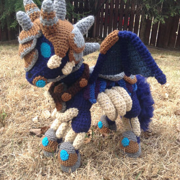 World of Warcraft Inspired: Invincible Amigurumi (crochet stuffed animal/plush toy) with posable wings - MADE TO ORDER
