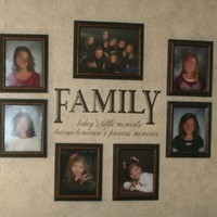 Wall Decor Plus More WDPM048 Family Today'S Little Moments Become Tomorrow'S Precious Memories Wall Saying Quote Art Vinyl Decal Sticker Chocolate Brown Chocolate Brown