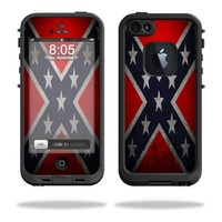MightySkins Protective Vinyl Skin Decal Cover for LifeProof iPhone 5 Case 1301 fre Sticker Skins Rebel Flag
