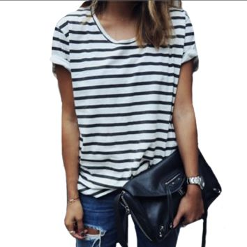 Women's Striped Casual Tee