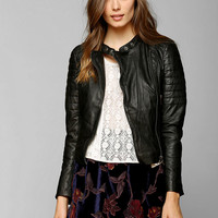 Muubaa Abila Quilted Leather Moto Jacket - Urban Outfitters