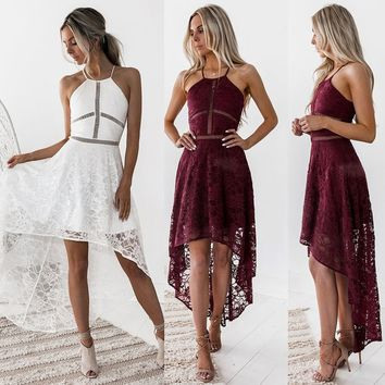 Womens Sleeveless Formal Prom Party Bridesmaid Wedding Ball Gown Cocktail Dress