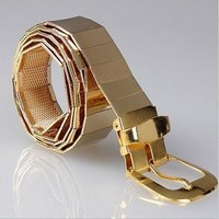 Men's All Metal Alloy Fashion Belt