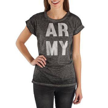 Army Shirt United States of America Apparel Juniors Graphic Tee
