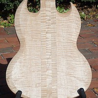 Luthier Made Flamed Maple over Mahogany SG Style Guitar Body
