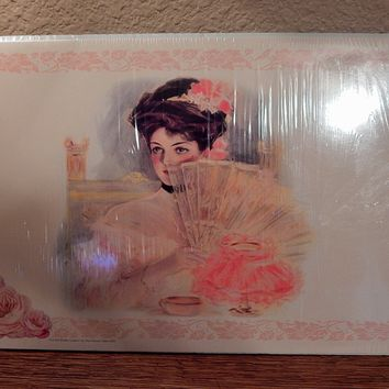 Victorian Paper Place Mats Floral Table Accessory Unused Vintage Gallery Graphics