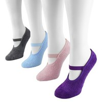 MUK LUKS® Women's 4-Pack Maryjane Socks - Buttercreme With Aloe One Size Fits Most
