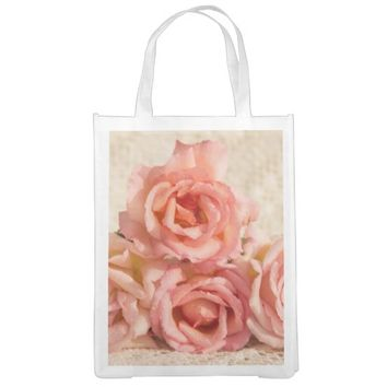 Roses reusable grocery bag