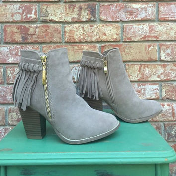 Walk this Way Fringe Booties