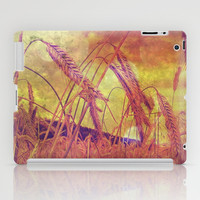 Pink And Gold Wheat iPad Case by minx267