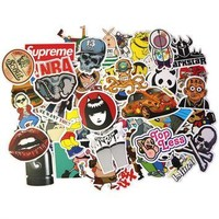 Treeby 160pcs Brand Stickers with Supreme Box Logo Laptop Rock Sticker For Luggage Fri