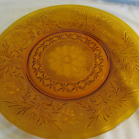 "Amber Duncan Miller sandwich torte serving plate platter ""charger"" 12 inches"