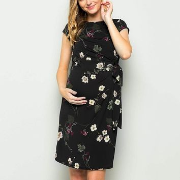 Ebony's Floral Maternity Dress