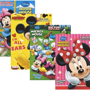 mickey/minnie mouse big fun book to color Case of 72