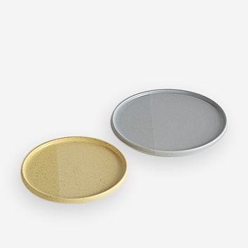 Sediment Plates Grey/Yellow
