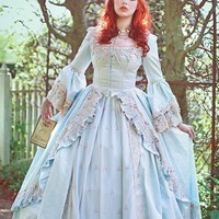 Alice in Wonderland Marie Antoinette Fantasy Gown Custom