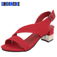 2017 New Design Summer Shoes Woman Sandals Gold High Heels Pump Peep Toe sandale femme sandalias zapatos mujer b605