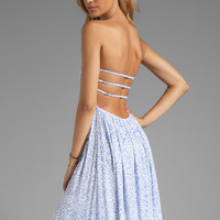 Indah Flamingo Smocked Bandeau Maxi Dress in Padi Violet from REVOLVEclothing.com