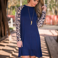 Say You Love Me Dress, Navy
