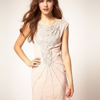 Warehouse | Warehouse Dress With Deco Embellishment at ASOS
