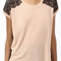 Boxy Lace Appliqué Top