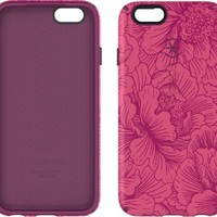 Speck Products CandyShell Inked Case for iPhone 6/6S - FreshFloral Red Pattern/Boysenberry Purple