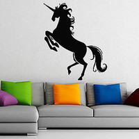 Wall Stickers Vinyl Decal Heraldy Middle Ages Animal Unicorn  z309