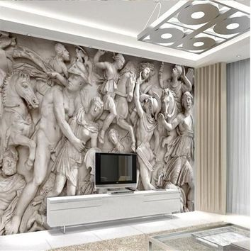 Custom photo wallpaper 3D European Roman statues art wallpaper restaurant retro sofa backdrop 3d wallpaper mural wall painting
