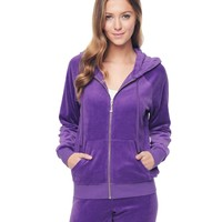 J Bling Relaxed Velour Jacket by Juicy Couture