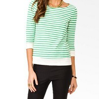 Essential 3/4 Sleeve Striped Top | FOREVER 21 - 2031557618