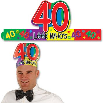 Look Who's 40 Headband Case Pack 48