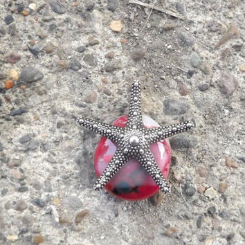 StarFish Pendant, Beach, Glass Jewlery