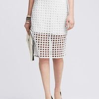 Banana Republic Womens Dot Lace Pencil Skirt