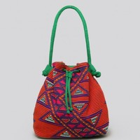 Bali Beaded Bucket Bag