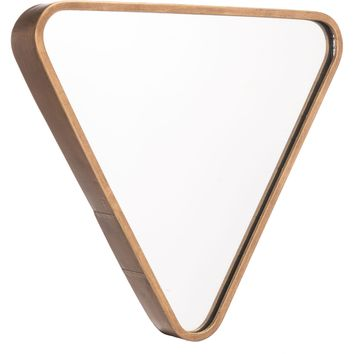 Gold Triangle Wall Mirror