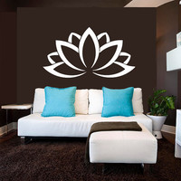 Wall Decal Vinyl Sticker Decals Art Decor Design Lotos Sign Yoga yin yang Indian Buddha Ganesh Family Modern Bedroom Dorm (r552)