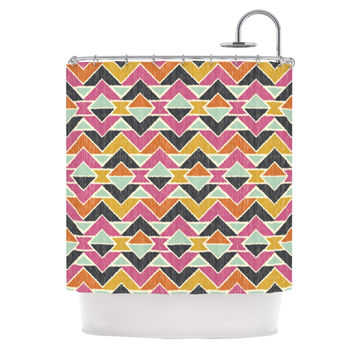 "Amanda Lane ""Sequoyah Arrows"" Shower Curtain"