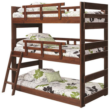 Tucker Twin Size Triple Bunk Bed