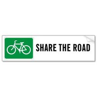 Share The Road with Bicycles Bumper Stickers from Zazzle.com