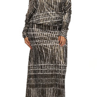 Plus Size Graphic Pattern 2 Way Maxi Dress