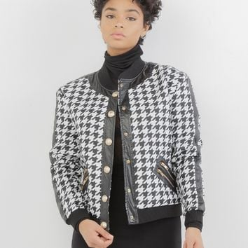 CHECK YOURSELF HOUNDSTOOTH JACKET