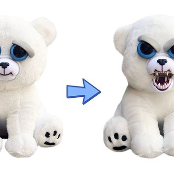 "Feisty Pet KARL THE SNARL POLAR BEAR 8"" PLUSH"