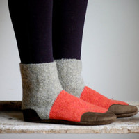 Wool Slippers, Eco Friendly, Firefly - Women's & Men's Sizes