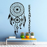 Wall Decal Vinyl Sticker Decals Art Home Decor Murals Dreamcatcher Dream Catcher Feathers Night Symbol Decoration Bedroom Dorm Decals U362