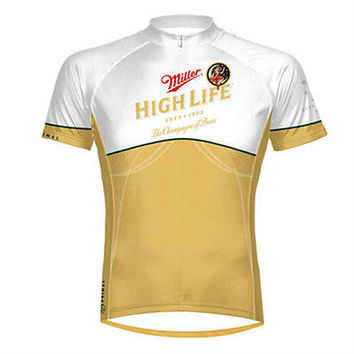 Primal Wear Miller High Life Beer Mens Cycling Jersey Riding Bike Shirt MHL1J20M