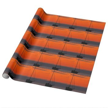 Sailboat at Sunset Wrapping Paper