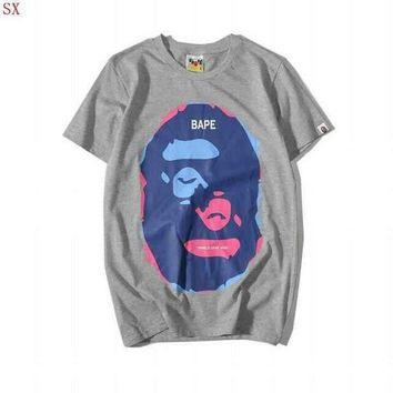 PEAPFN BAPE Fashion Casual Pattern Print T-Shirt