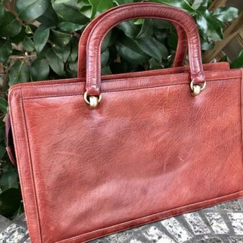 Vintage Jay Herbert New York Designer Leather Satchel Bag