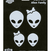 Alien Family Car Stickers