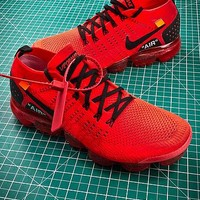 Clot X Nike Air Vapormax 2.0 Red Sport Running Shoes - Best Online Sale